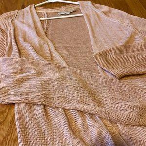 Loft Gold Knit Cardigan, Size M, NWOT